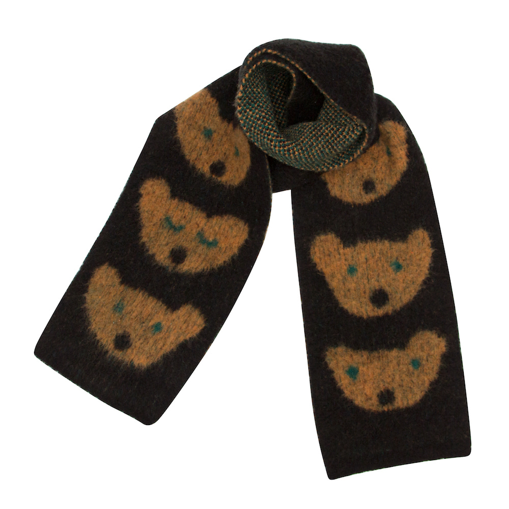 MOGU soft muffler midnight bear