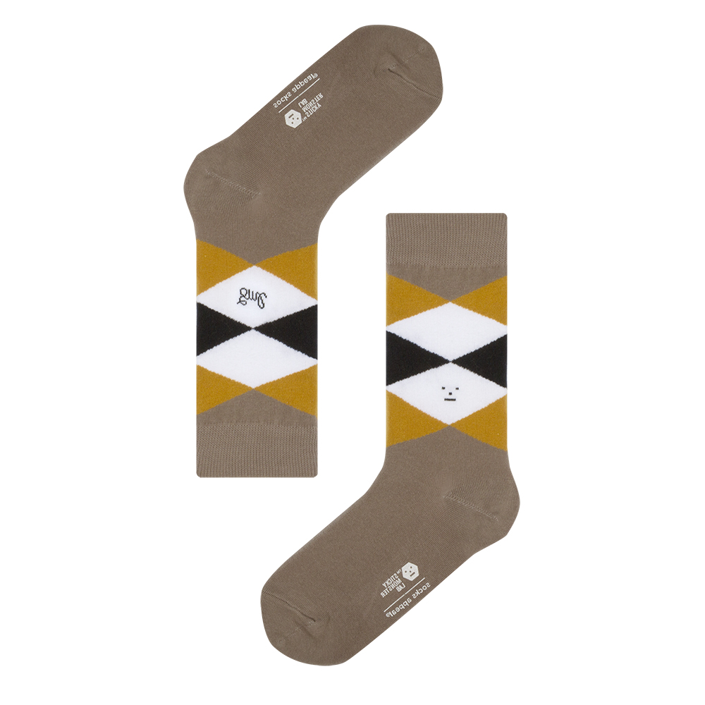 socksappeal  SML, argyle monster beige