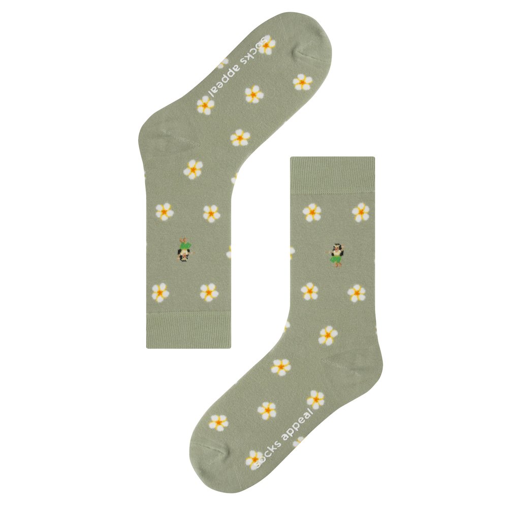 socks appeal hawaiian flower