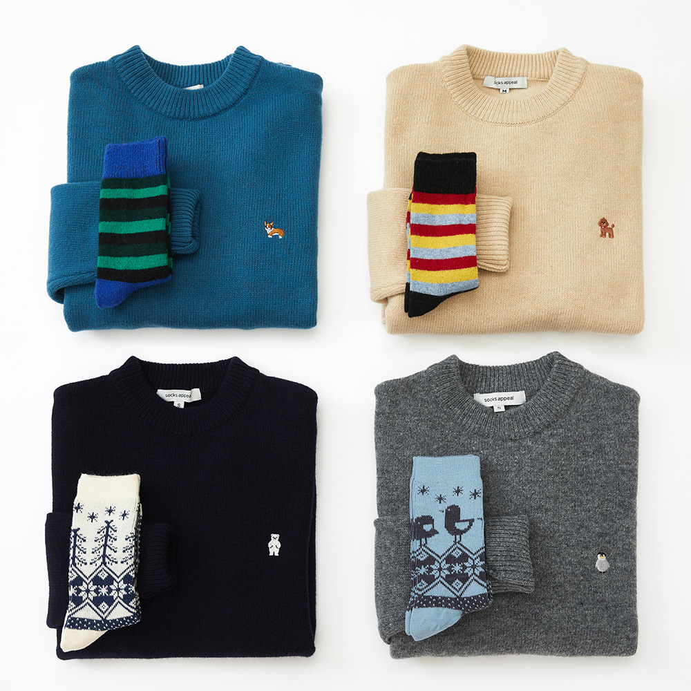 knit + wool socks gift set (30% OFF)