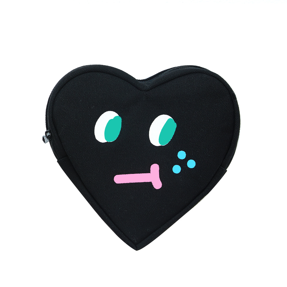 slowcoaster black heart pouch (EVENT 50% OFF)