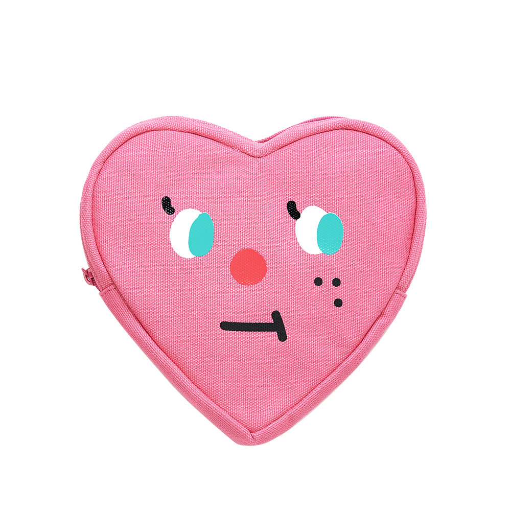slowcoaster pink heart pouch (EVENT 50% OFF)