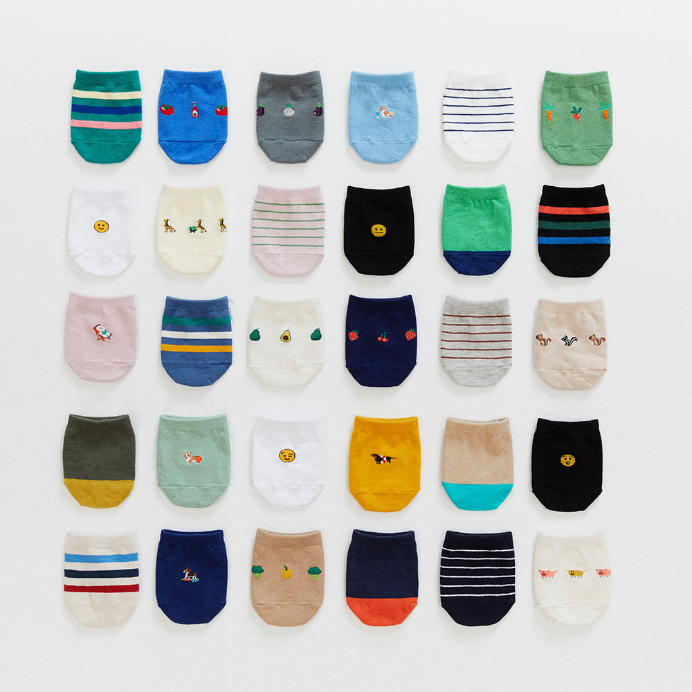 half socks 5pack (20% OFF)