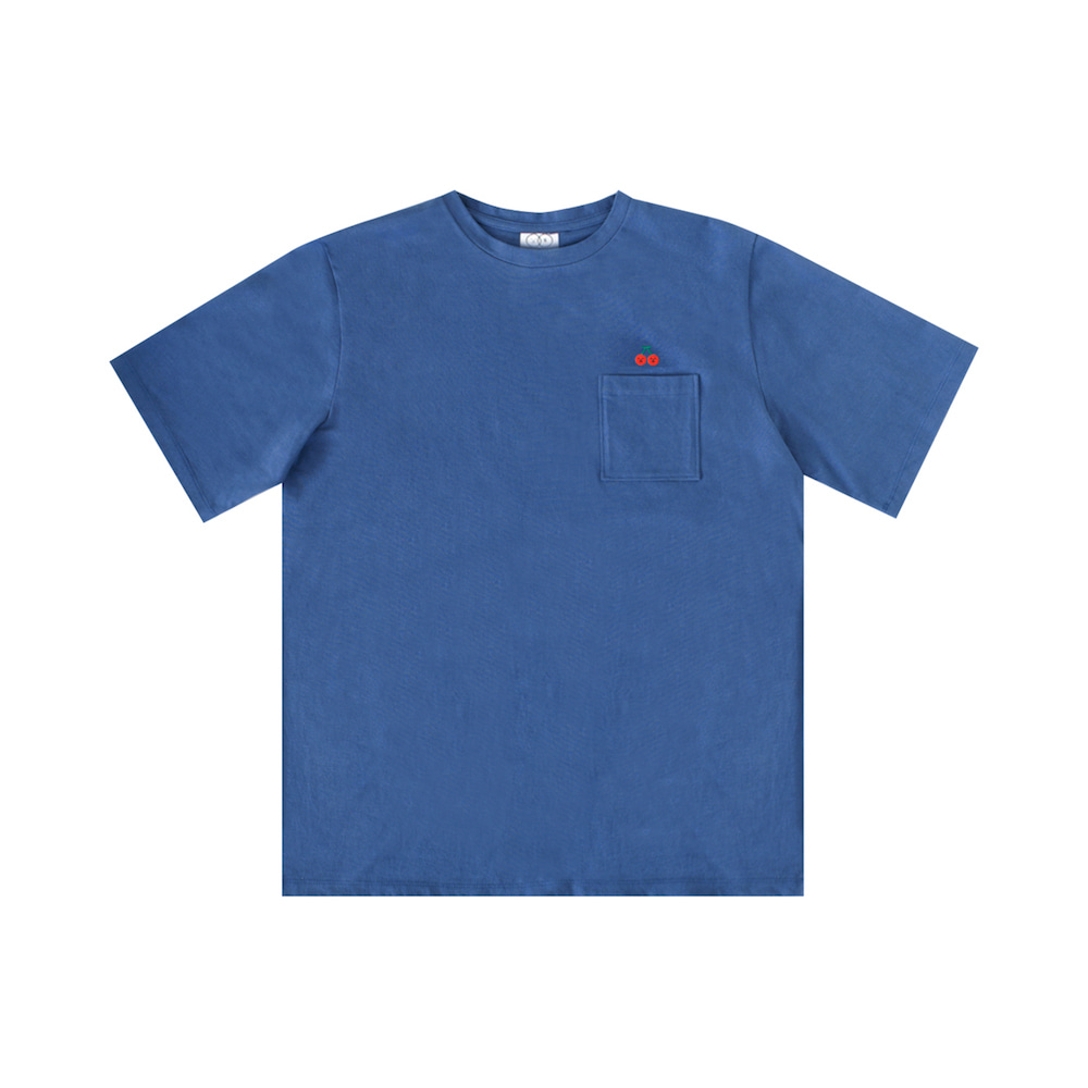 x sml pocket T, cherry