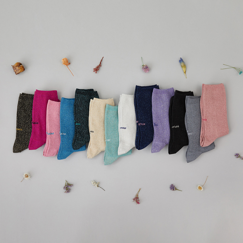 Glittering Socks 3pack (EVENT 30% OFF)