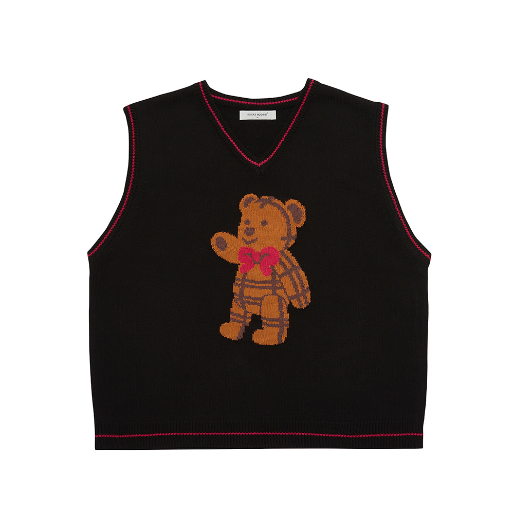 paddington teddy vest black