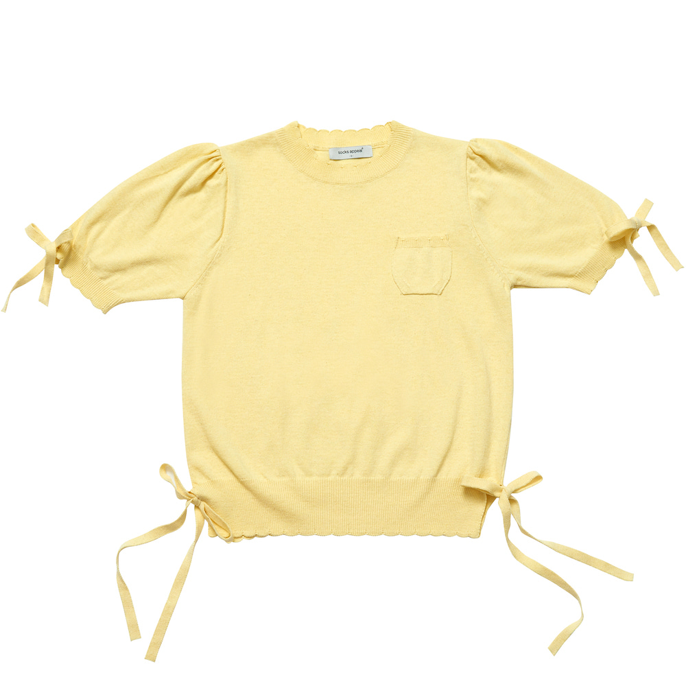 RIBBON GIRL summer knit lemon (EVENT 10% OFF)