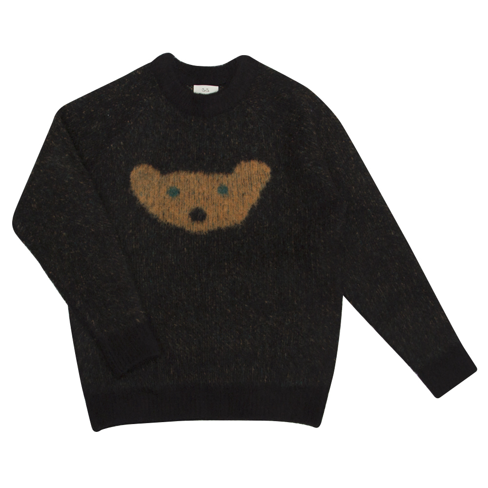 MOGU soft sweater midnight bear